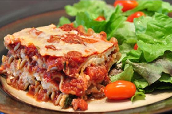 Lasagna and Salad